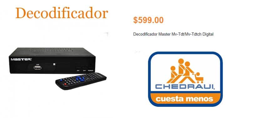 decodificador sintonizador para TV