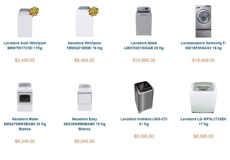 lavadoras en promoción