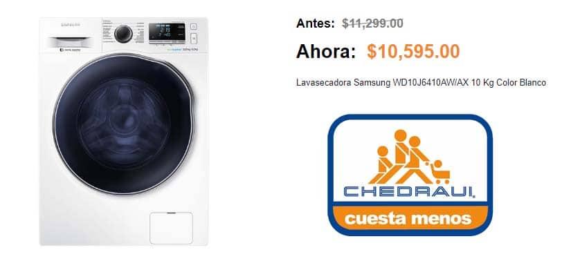 ofertas lavasecadoras en chedraui