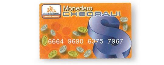 tarjea Monedero Chedraui