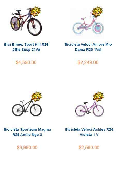 bicicletas en oferta chedraui