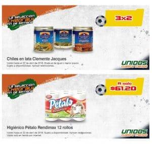 chiles en lata y papel higenico en promoción Chedraui